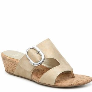 NEW Impo Gisselle platinum slides sandals sz 7 NIB